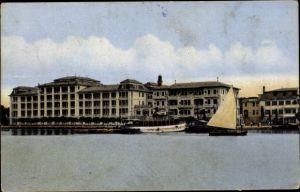 Ak Brijuni Brioni Kroatien, Hafen, Hotel Neptun