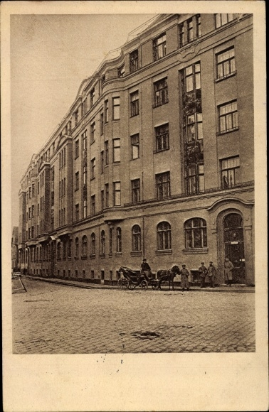 Ak Jelgava Mitau Lettland, Wallstraße