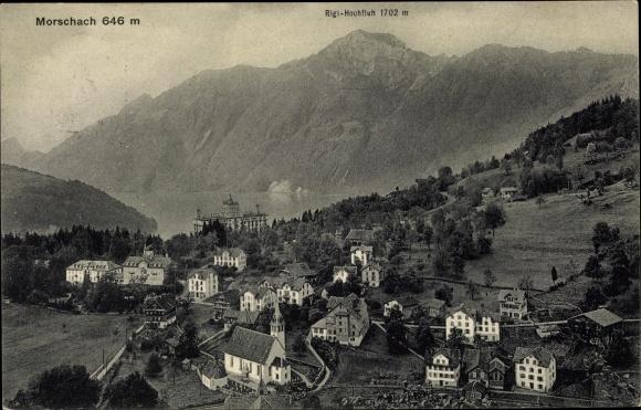 Ak Morschach Kt. Schwyz Schweiz, Panorama