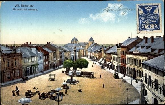 Ak Ml. Boleslav Stredocesky Kraj, Staromestske namesti