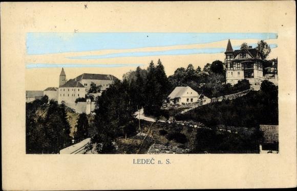 Ak Ledeč nad Sázavou Ledetsch Reg. Hochland, Blick über die Stadt