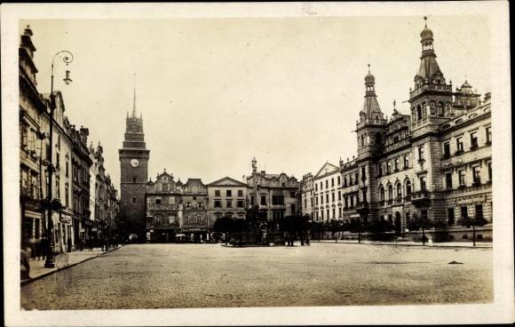 Ak Pardubice Pardubitz Stadt, Blick auf den Markt