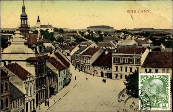 Ak Sedlčany Seltschan Reg. Mittelböhmen, Panorama