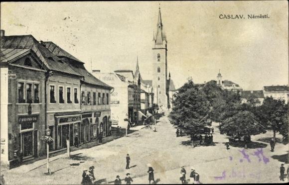 Ak Čáslav Tschaslau Mittelböhmen, Namesti, Markt