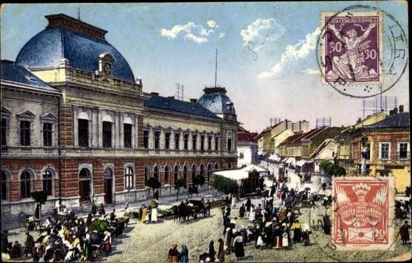 Ak Nitra Neutra Slowakei, Hlavné námestie, Markt