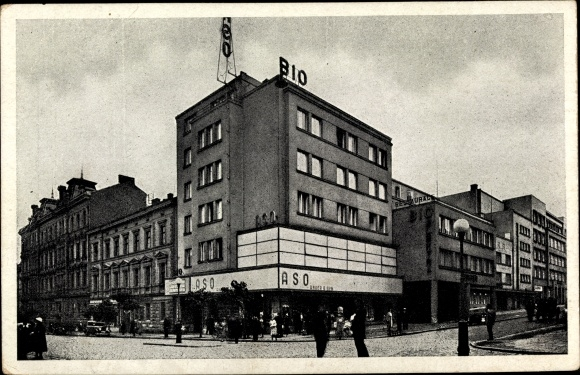 Ak Plzeň Pilsen Stadt, Warenhaus Aso