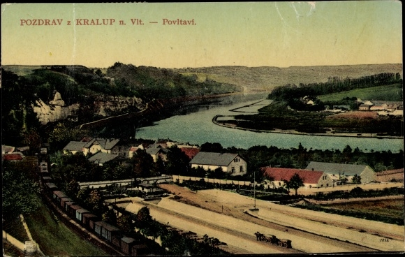 Ak Kralupy nad Vltavou Kralup an der Moldau Mittelböhmen, Panorama