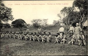 Ak Tonkin Vietnam, Tirailleurs Tonkinois à l'excercise