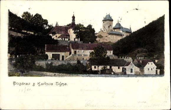 Ak Karlštejn Mittelböhmen, Burg Karlštejn