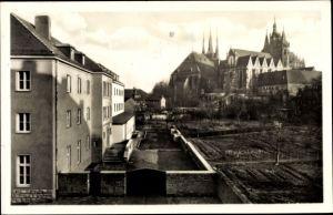 Ak Erfurt in Thüringen, Teilansicht, Dom