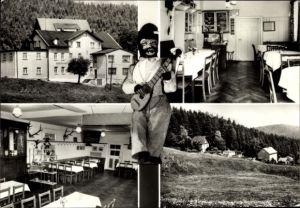 Ak Steinheidel Erlabrunn Breitenbrunn im Erzgebirge, Gaststätte Steinheidel