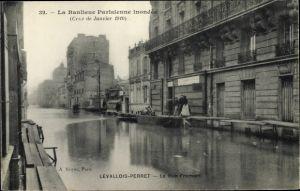 Ak Levallois Perret Hauts de Seine, La Rue Fromont, Janvier 1910