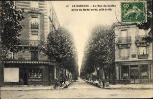 Ak La Garenne Hauts de Seine, La Rue du Centre
