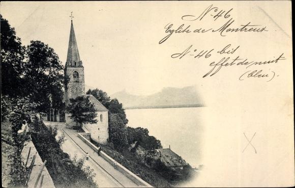 Ak Lausanne Kt. Waadt Schweiz, Eglise