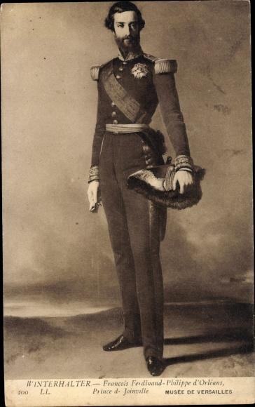Künstler Ak Winterhalter, Kronprinz Francois Ferdinand Philippe d'Orleans, Portrait in Uniform