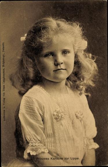 Ak Prinzessin Karoline zur Lippe, Portrait