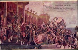 Künstler Ak David, Napoleon Bonaparte, La Distribution des Aigles, Champs de Mars, 5 Decembre 1804