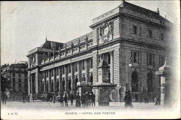 Ak Genève Genf Stadt, Hotel des Postes