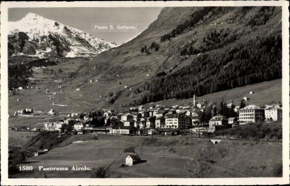 Ak Airolo Kanton Tessin Schweiz, Panorama