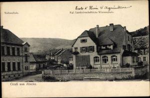 Ak Alsenz Rheinland Pfalz, Volksschule, Kgl. Landwirtschaftl. Winterschule
