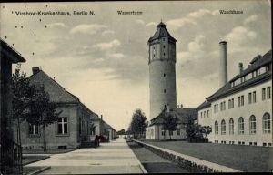 Ak Berlin Wedding, Virchow Krankenhaus, Wasserturm, Waschhaus
