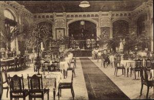 Ak Hamburg Harburg, Bahnhofsrestaurant Chr. Heeschen, Innenansicht