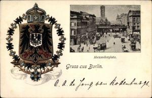 Wappen Litho Berlin Mitte, Partie am Alexanderplatz, Bahnüberführung