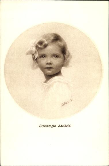 Künstler Ak Erzherzogin Adelheid, Tochter von Kaiser Karl I. von Österreich Ungarn und Kaiserin Zita