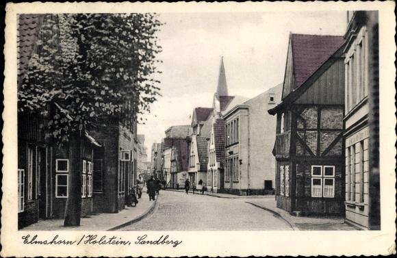 Ak Elmshorn in Schleswig Holstein, Partie am Sandberg