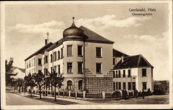 Ak Landstuhl im Kreis Kaiserslautern, Straßenpartie am Genesungsheim