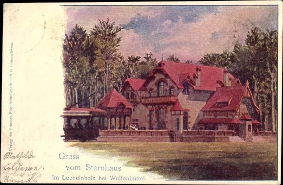 Künstler Ak Wolfenbüttel in Niedersachsen, Sternhaus im Lechelnholz