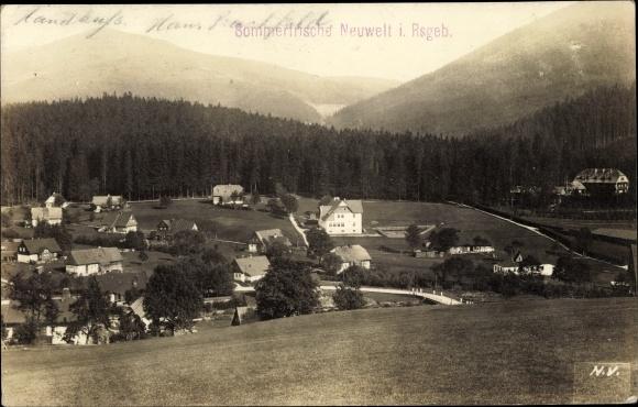 Foto Ak Nový Svět Neuwelt Harrachov Harrachsdorf Riesengebirge Reg. Reichenberg, Totalansicht