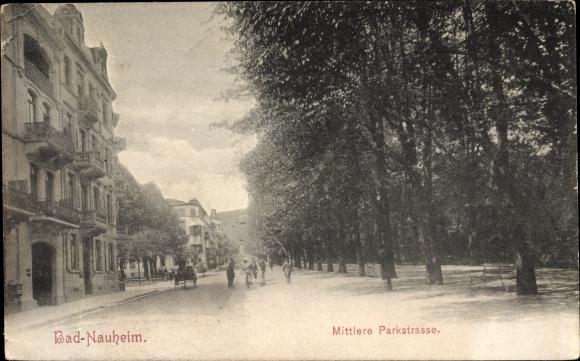 Ak Bad Nauheim im Wetteraukreis Hessen, Mittlere Parkstraße