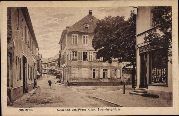 Ak Simmern im Rhein Hunsrück Kreis, Aufnahme von Franz Kilian, Buchhandlung