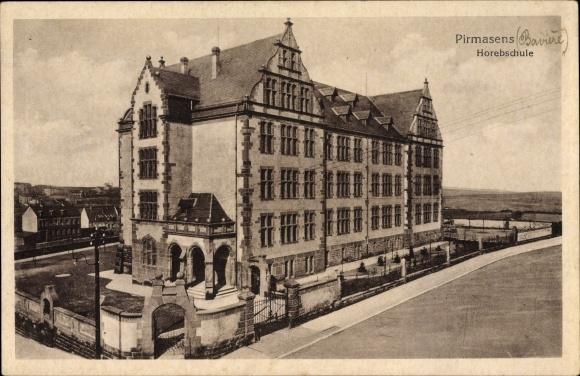 Ak Pirmasens am Pfälzerwald Rheinland Pfalz, Blick auf die Horebschule