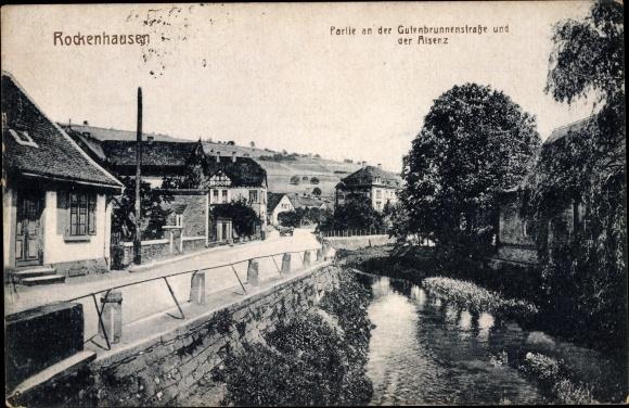 Ak Rockenhausen im Donnersbergkreis, Partie an der Gutenbrunnenstraße und der Alsenz