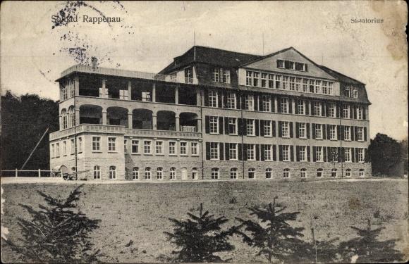 Ak Bad Rappenau im Kreis Heilbronn, Blick auf das Sanatorium, Stadtansicht