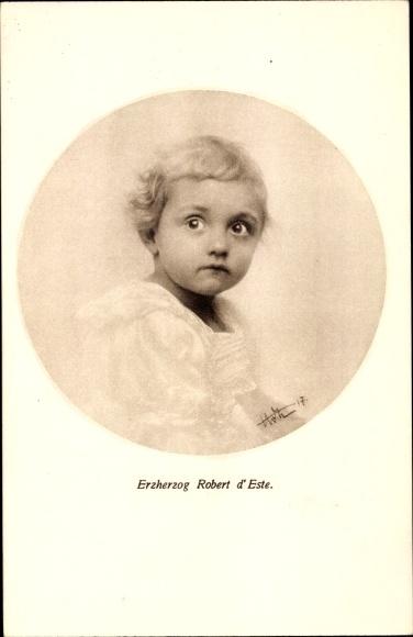 Ak Erzherzog Robert d'Este als kleiner Junge, Portrait