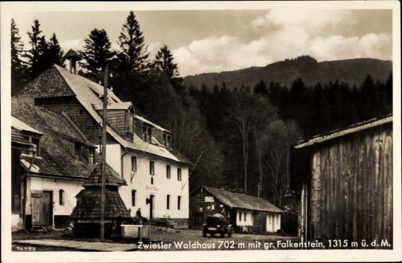 Ak Zwiesel im Bayerischen Wald, Waldhaus am Falkenstein