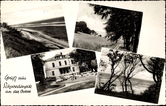 Ak Schwedeneck in Schleswig Holstein, Strandpartie, Meerblick, Surendorf, Hohenhain, Dänisch Nienhof