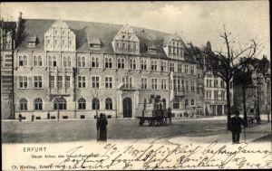 Ak Erfurt in Thüringen, Hauptpostamt, Neuer Anbau