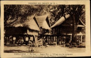 Ak Laos, Village sous le manguiers