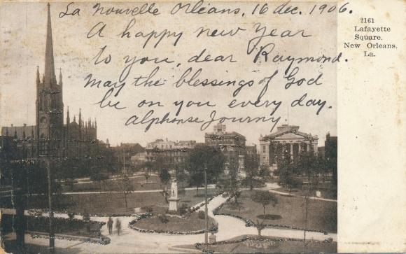 Glitzer Ak New Orleans Louisiana USA, Lafayette Square