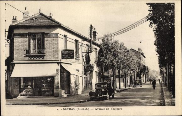 Ak Sevran Seine Saint Denis, Avenue de Vaujours