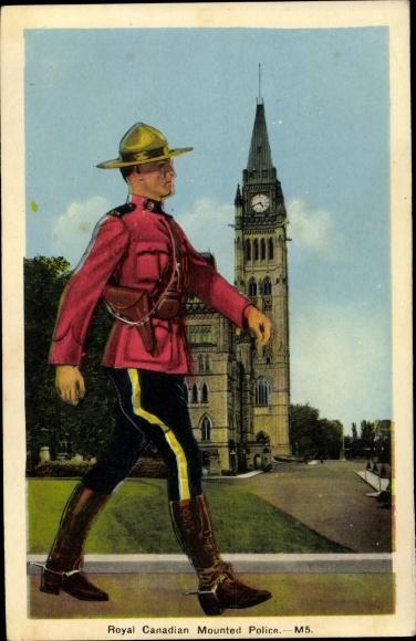 Künstler Ak Royal Canadian Mounted Police