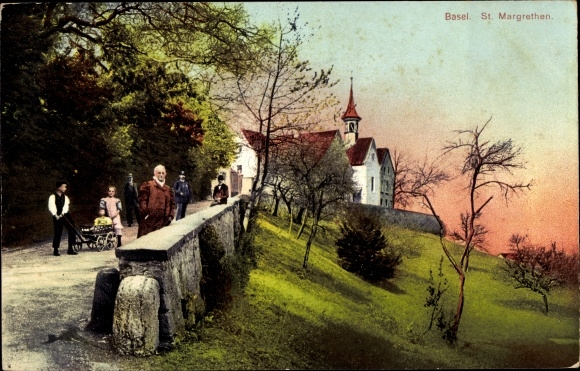 Ak Bâle Basel Stadt Schweiz, St. Margarethen