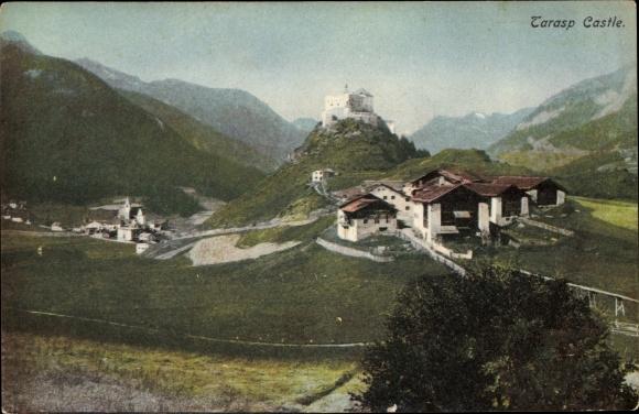Ak Tarasp Kt. Graubünden Schweiz, Schloss, Panorama