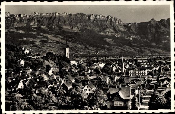 Ak Buchs Kt. St. Gallen Schweiz, Panorama, Kreuzberge
