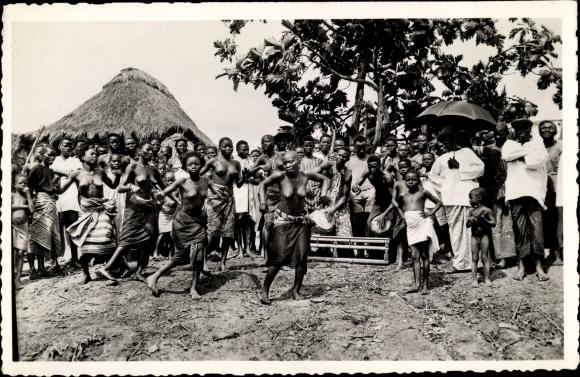 Ak Dahomey Benin, Danses près de Porto Novo