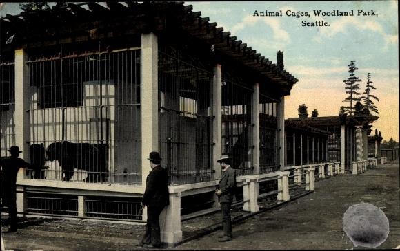 Ak Seattle Washington USA, Woodland Park, Animal Cages, Bears